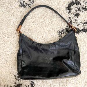 HOBO black genuine leather shoulder bag